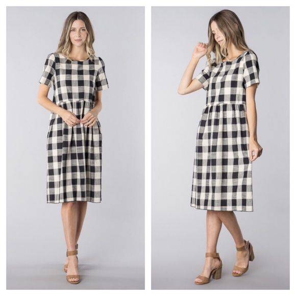 73c86046989 Black and White Gingham Dress